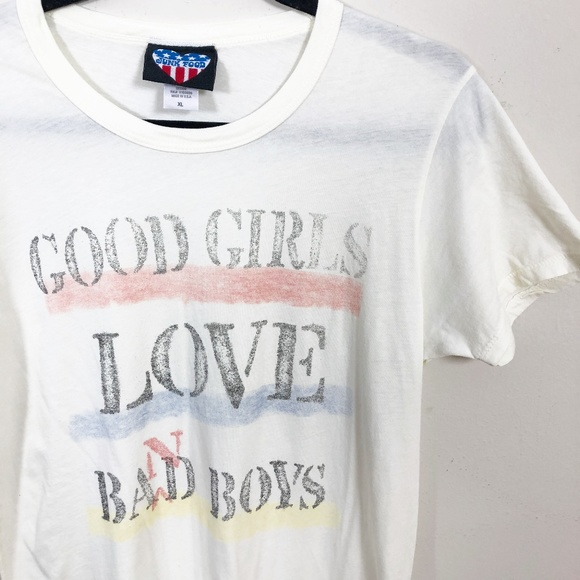 8563d054c Junk Food Clothing Tops | Junk Food Good Girls Love Band Boys Tee Xl ...